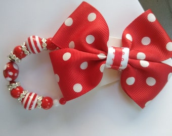 Girls hair bows and matching bracelets