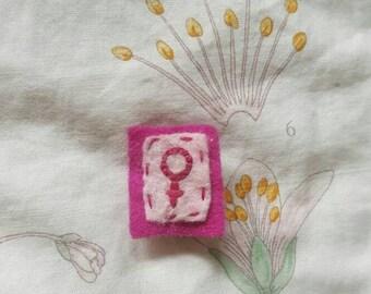 Feminist/Venus Symbol Felt Pin