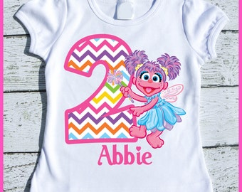 Custom Personalized Super Cute Abby Cadabby Birthday tee shirt