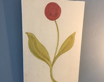 Medieval Style Flower Panel  (Red)