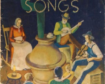 Treasure Chest of Home Spun Songs, Antique Songbook 1935 Treasure Chest Publiscations, Inc.
