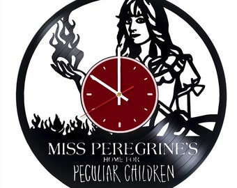 Miss Peregrine's Home vinyl wall clock Home for Peculiar Children wall clock Miss Peregrine's Home wall decor Tim Burton gifts Fantasy decor