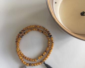 Bracelet, moodbracelets, beaded bracelet, lotus flower, purity, gift idea