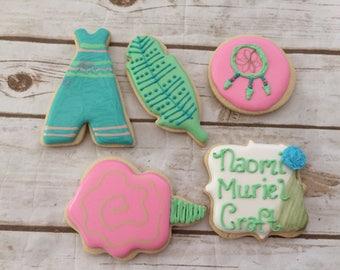 Boho Chic/Tribal/Coachella Decorated Cookies