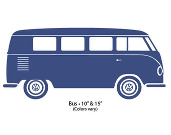 "Decal 15"" VW Bus"