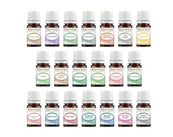 Top 20 Essential Oil Set 5 ml. Pure Therapeutic Grade Kit 14 Singles - 6 Blends