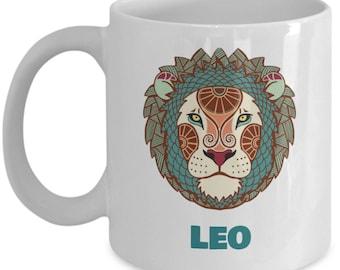 Zodiac Sign Leo Ceramic Coffee Mug
