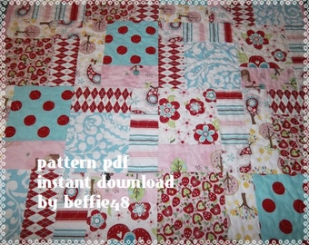 Magic 9 Block Quilt Pattern Tutorial, Kids, Baby pdf.