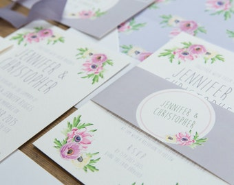 Pretty Pastels Floral Wedding Invitations And Stationery