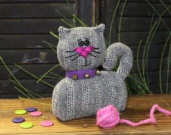 Cloth Doll PATTERN - Here Kitty Pincushion - CWC642