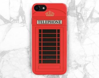 telephone box british phone case phone booth iphone 8 plus case london iphone case silicone iphone 6 cover iphone 7 iphone5s case iphone 10