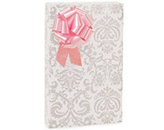 Pearl Flourish  Gift Wrap Wrapping Paper-18ft Roll w. 20Gift Tags