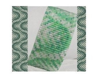 2 Loom Patterns - Sea Weed Cuff Bracelets - 2 Variations For The Price Of 1