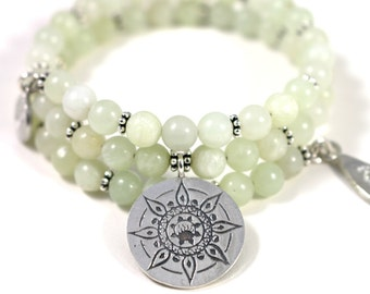 POSITIVITY New Jade Healing Gemstone Mandala Bracelet