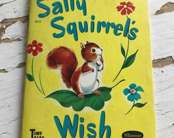 Vintage Whitman Tiny Tales Book Sally Squirrel's Wish