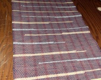 Handwoven Rag Rug, (Clark,53)-318s