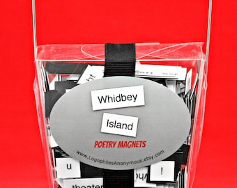 Whidbey Island Washington Poetry Magnets - Refrigerator Word Quote MagnetsFree Shipping