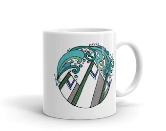 mtns + oceans mug by Granite Hill Threads