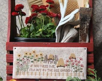 Bee Garden : Cross Stitch Pattern by Heartstring Samplery