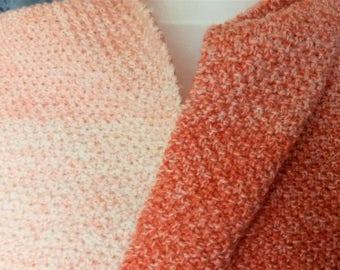 sjaal in gerstekorrel van merinowol uit Nederland