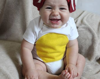 Baby diy strawberry do it yourself baby costume halloween guaranteed delivery within 1 week costume kit baby diy do it yourself costume halloween costume bacon and egg costume solutioingenieria Choice Image