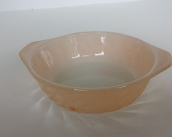 Fire King Peach Luster Swirl Bowl
