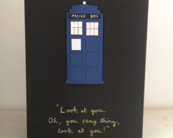 Doctor Who Greetings Card - Tardis Love/Anniversary Card - Eleventh Doctor quote Valentine