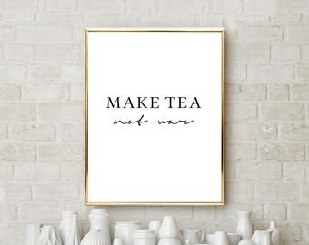 Bedroom wall art, kitchen decor, bedroom decor, yoga gifts, living room decor, tea lover gift, gift for mom, kitchen wall decor, wall art