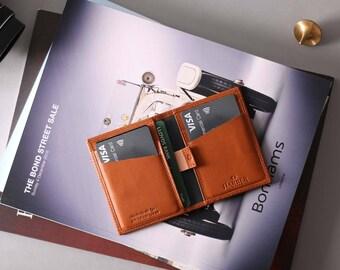 RFID Card Wallet Leather | Slim RFID Leather Wallet | Mens Slim Leather Wallet | RFID Wallet