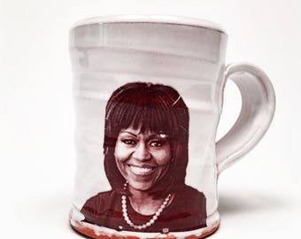 Choose your favorite First Lady on a handmade mug