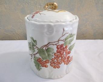 Norma Jean Springer signed art on fine porcelain canister circa 1940's!!