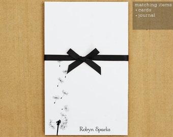 Personalized Stationery Set -  Dandelion Notepad Stationary - 50 sheets
