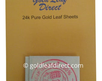 24K PURE EDIBLE 100% GOLD Leaf Sheets X 10