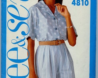 Butterick See & Sew Blouse and Shorts Pattern #4810