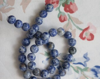 Sodalite Smooth Polished 10mm Beads 38 Beads, One Strand