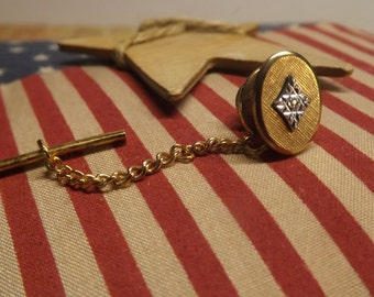 Mens 12K gold filled diamond tie tack. by Amway Artistry