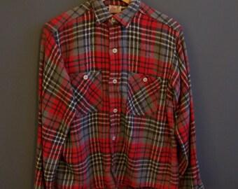 1960s Winter King heavy flannel shirt winter flannel shirt Winter King shirt medium vintage workwear