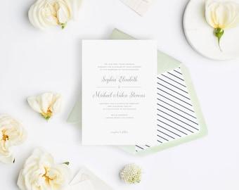 Wedding Invitation Sample - The August Suite