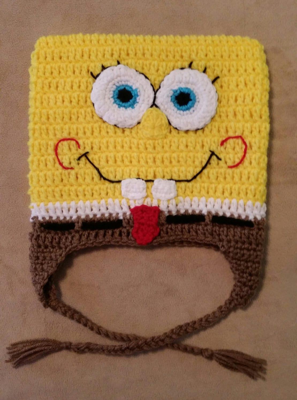 Cartoon Hat. SBSP Crochet Hat. Handmade Spongebob Hat.