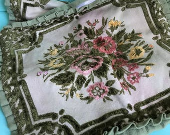 Two Velvet/Flannel Hand Made Vintage Cushion Covers