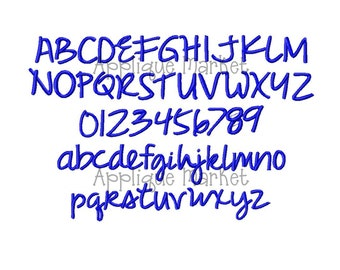 Machine Embroidery Design Sassy Script Alphabet INSTANT DOWNLOAD