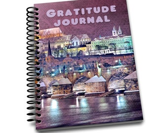 City At Night Gratitude Journal | 100 pages | 6 x9 | Notebook | Journal