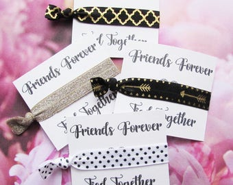 Elastic Hair ties - Bridesmaids Favors - Birthday - Party Favors - Hair Accessories - Hair Tie Favors - Everyday Elastic Hair Ties - Card05