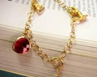 """Gold Charm bracelet - Hostess gift """"Paris when it sizzles"""""""