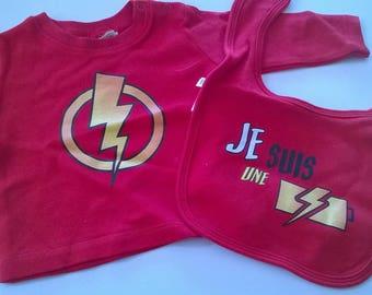 long sleeve tshirt + bib flash