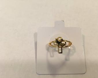 Dove on Cross Ring. Dove Cross Ring, Peace Cross Ring, Olive Cross Ring, Adjustable Dove Cross Ring, Gold Dove Cross