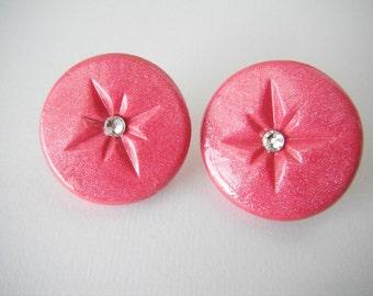 Magenta Starburst Earrings
