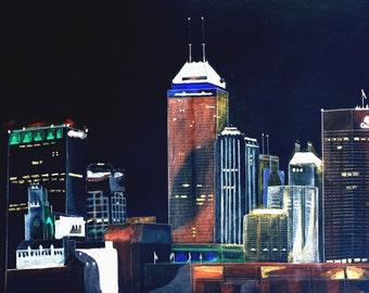 Indianapolis Skyline at Night
