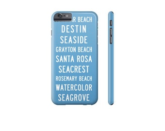 SEASIDE Florida iPhone Case, Blue iPhone 8 Case, iPhone X Case, iPhone 7 Case, Cover for Samsung Galaxy s7 Case, Beach Phone Case.