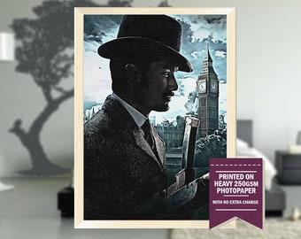 Sherlock Holmes, fanart, sherlock poster, sherlock print, sherlock movie, sherlock movie art, best posters, cool prints, cool art